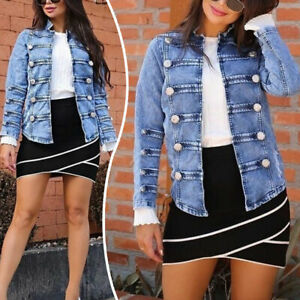 Summer-Women-Fashion-Oversize-Casual-Denim-Buttons-Blazer-Jacket-Coat-Outwear