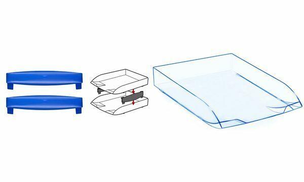 6xCEP Briefablage Ice, DIN A4, eisblau | Genial Und Praktisch  | Luxus  | Großhandel