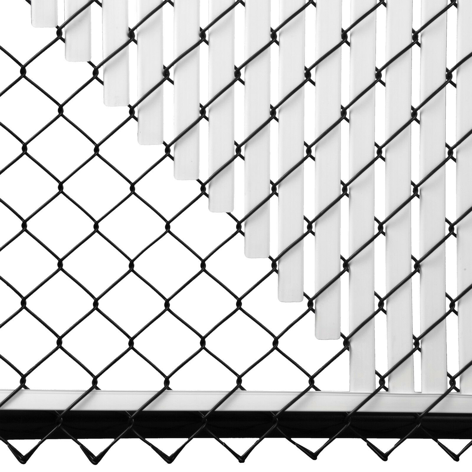 Chain Link White Double Wall Tube Privacy Slat For 6ft High Fence ...