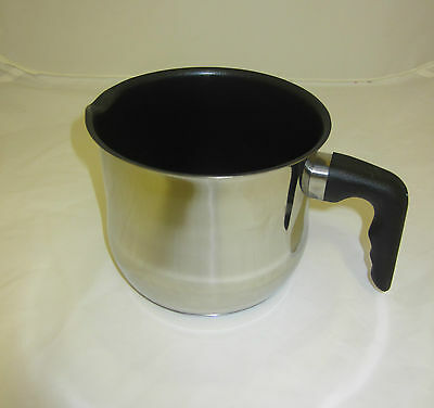 Stainless Steel  Plastic Handle / Non Stick Warming  Boiling Milk Tea Pot Pan