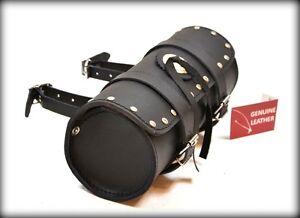 Trousse-a-outil-en-Cuir-Rond-Clous-NEUF-pour-moto-custom-trike-solex-harley
