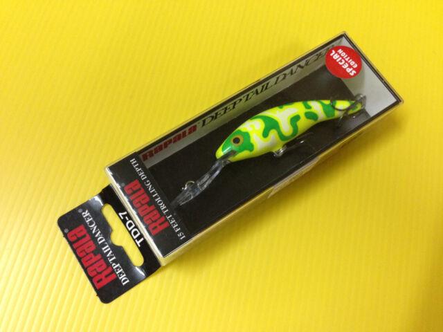 Special Edition Rapala Deep Tail Dancer TDD-7 CMCH, Camo Chartreuse Color, NIB.