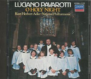 Music-CD-Luciano-Pavarotti-O-Holy-Night-Kurt-Herbert-Adler-National-Philharmonic