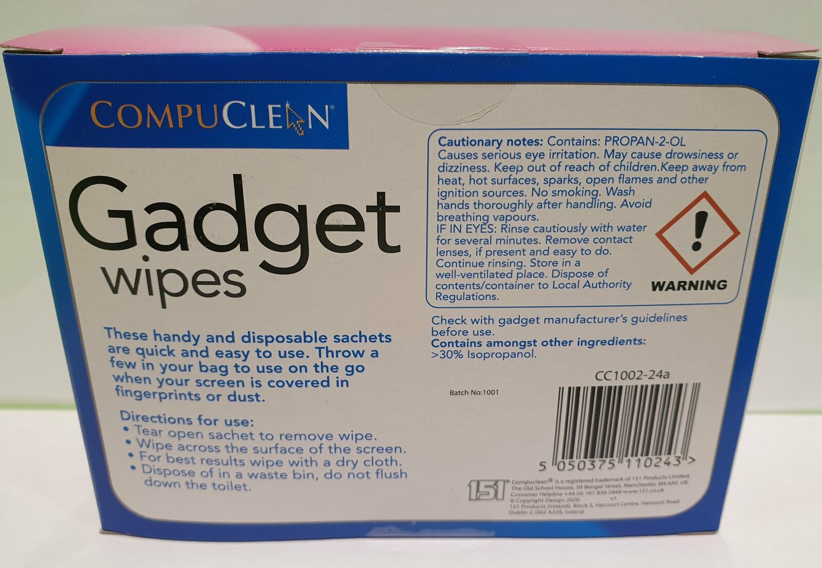Gadget Wipes 24Pack For Smartphones Tablets Laptops Handheld Devices