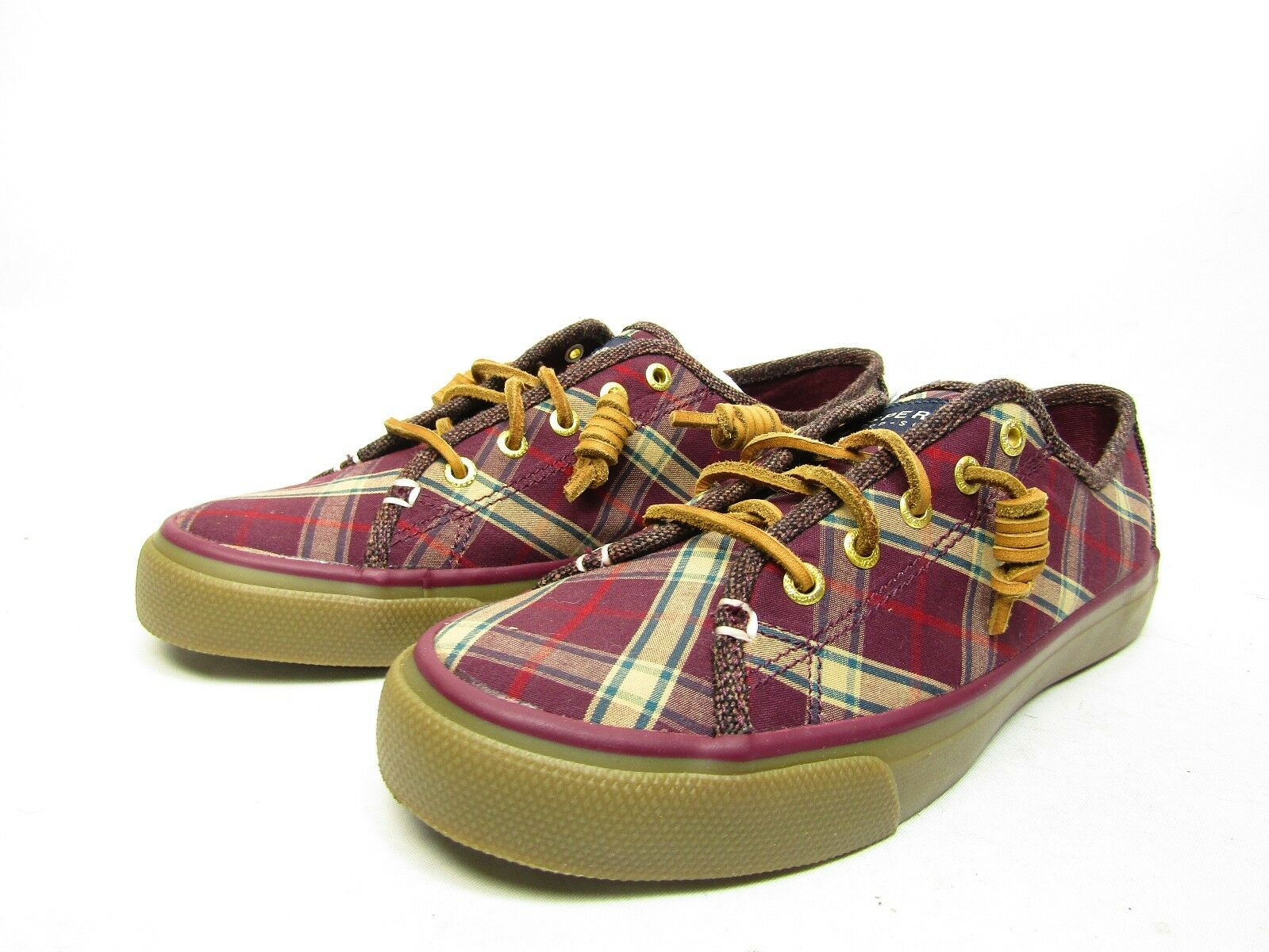 Sperry Womens Oxford Magenta Shoes STS90969 Seacoast B/F Magenta Oxford Fabric Size 8 M c447e9