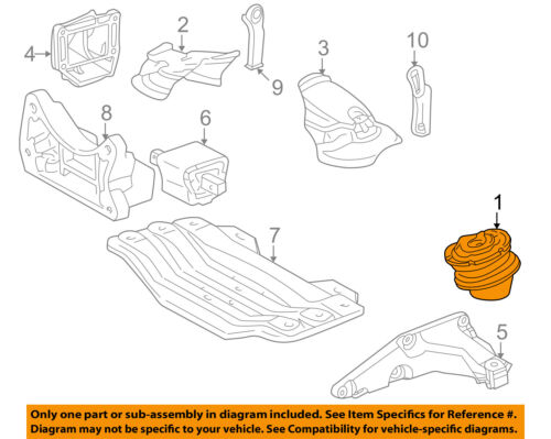 Mercedes MERCEDES-BENZ OEM 00-06 S500-Engine Motor Mount Torque Strut 2202403317