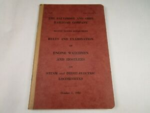 Vtg-Original-Baltimore-Ohio-B-amp-O-Railroad-Rules-Engine-Watchment-Hostlers-1953