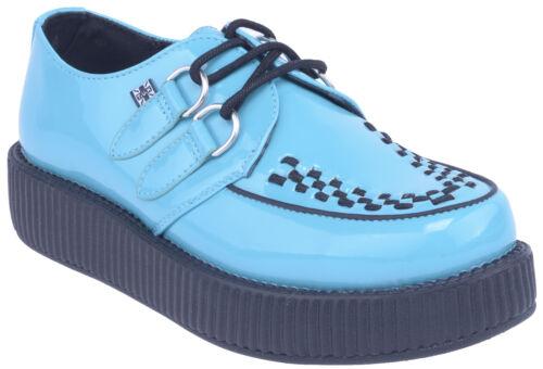 TUK VIVA MONDO Interlace PATENT Creeper Sneakers Rockabilly