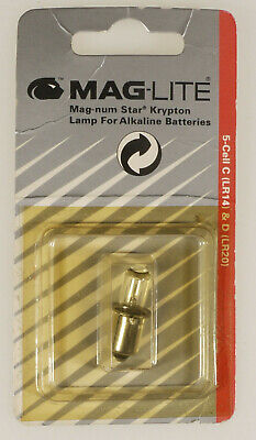 (prl) Maglite Bulbs Lamps 5 Cell C & D Lampadina Krypton Lr14 Lr20 Mag-num Star