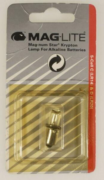(prl) Maglite Bulbs Lamps 5 Cell C & D Lampadina Krypton Lr14 Lr20 Mag-num Star Caldo E Antivento