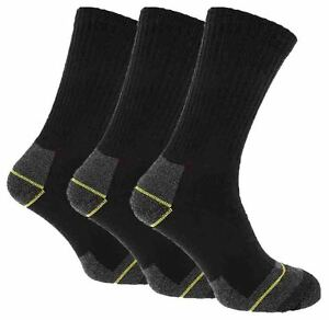 12-Pairs-Mens-Black-Heavy-Duty-Comfortable-Hardwearing-Work-Socks-Size-6-11