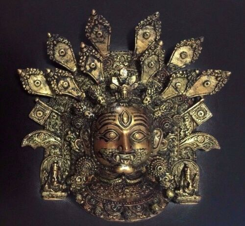 Nepalese Aakash Bhairav Wall Hanging Mask Home Gift Decor Resin Artwork