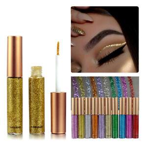 Paillette-Eyeliner-Glitte-Poudre-Brillant-Yeux-Liquide-Ombre-Paupiere-Maquillage