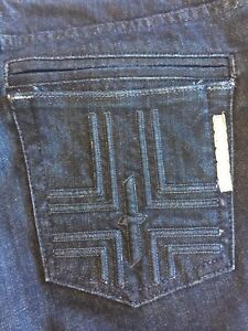 Dark Cross 27 Bishop Low Femmes Of Seventh Jeans Sz Flare Poches naRxSqOwf