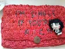 "Mua Mua ""I'm Single If You're Rich"" - Crocheted Pochette RRP £49"