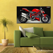 DUCATI STREETFIGHTER 848 MOTORCYCLE LARGE HD POSTER 24x48 in