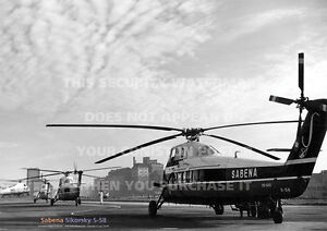 SABENA-SIKORSKY-S-58-HELICOPTER-S58-A3-POSTER-PRINT-PICTURE-PHOTO-IMAGE