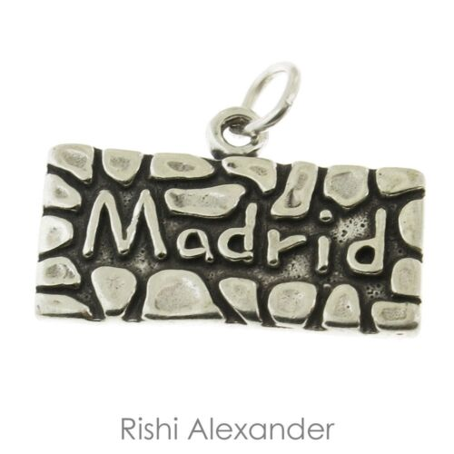 925 Sterling Silver Madrid Charm Made in USA