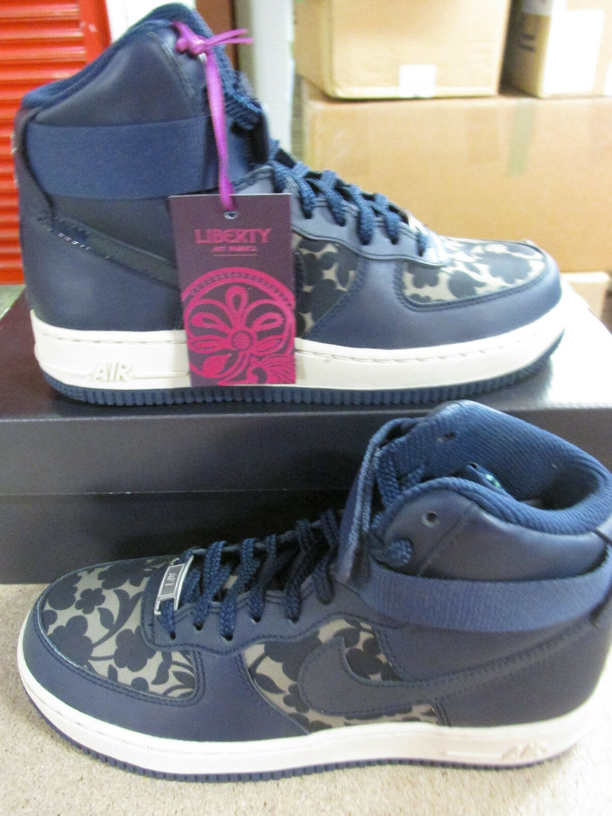 nike womens air force 1 HI LIB QS womens trainers 706653 300 sneakers shoes