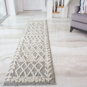 Long Hall Runner Rug Grey Traditional Carpet Runners