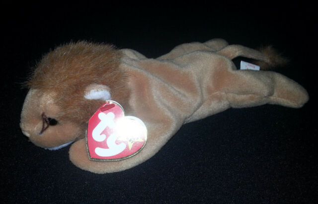 89054b06691 ROARY The LION TY Beanie Baby Retired P.V.C Pellets Multiple Tag Errors   4069