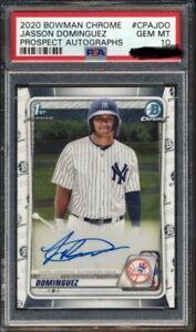 Baseball-Card-Repack-Mystery-Packs-Topps-Bowman-Dominguez-Robert-Acuna-Psa-10