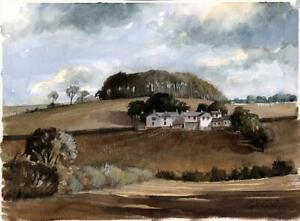 BRITISH LANDSCAPE SCENE Watercolour Painting 20TH CENTURY - INDISTINCTLY SIGNED