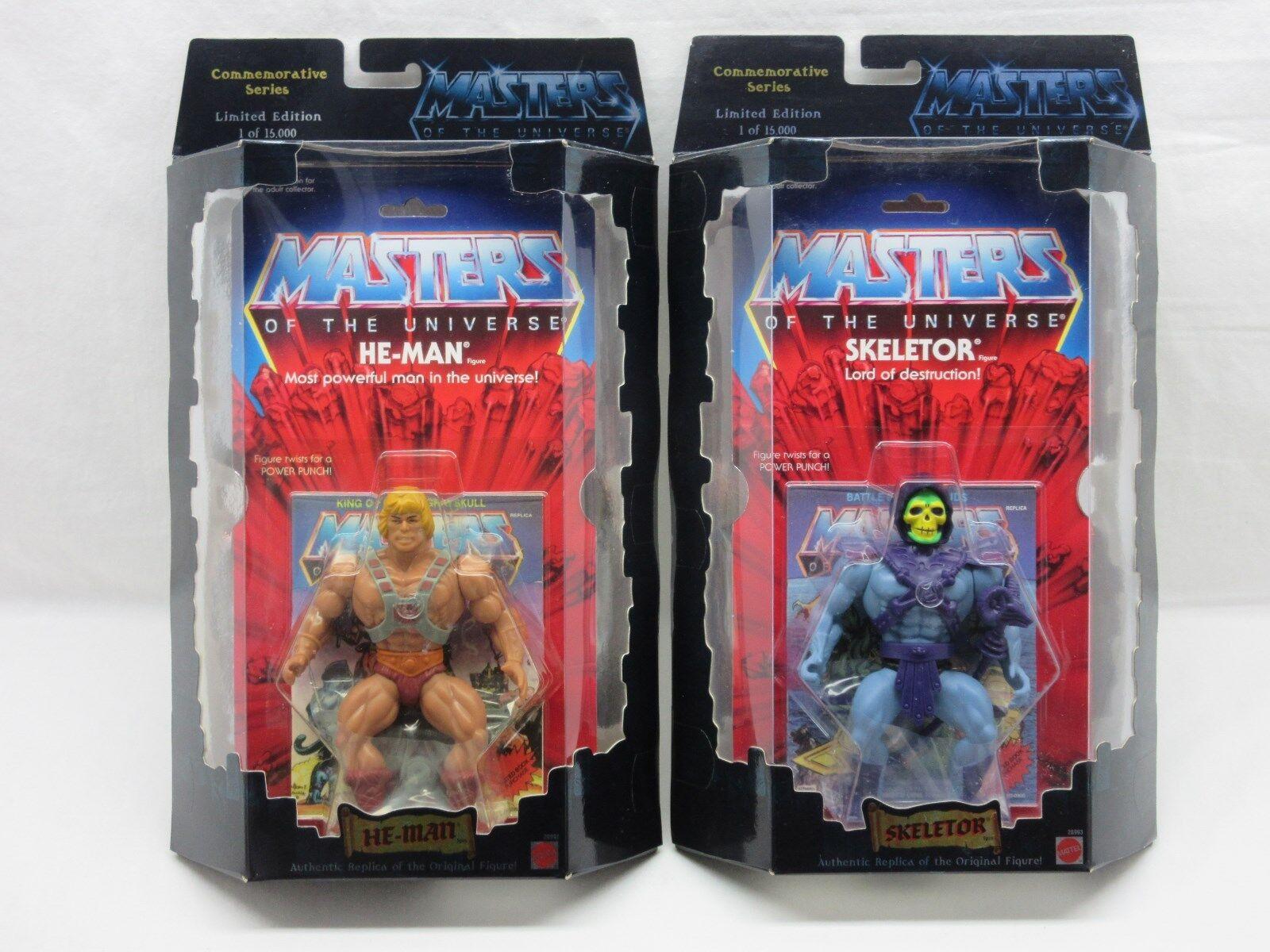 MOTU,Commemorative HE-MAN & SKELETOR,MISB,Sealed,figure,Masters of the Universe