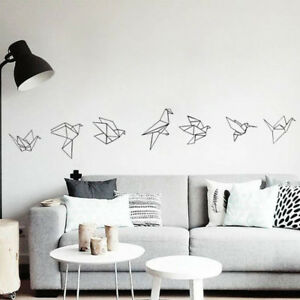 BLACK-Origami-papercranes-wall-sticker-Art-Vinyl-Sticker-Art-Nursery-home-decor