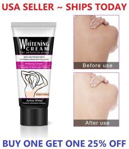 Dark Skin Whitening Bleaching Cream for Sensitive Area Armpit Legs Knees Face