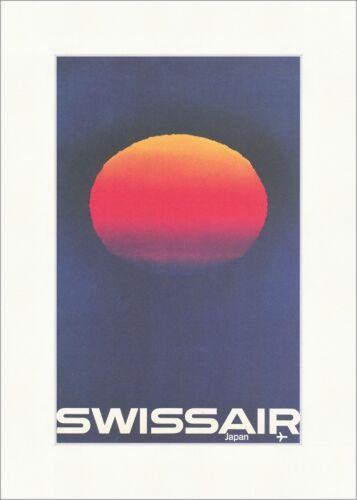 Swissair Unternehmen Japan Bingler Schulthess Kunstdruck Plakatwelt 477