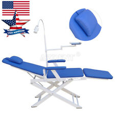 Gm C004 Dental Portable Simple Folding Chair With Rechargeable Led Light Blue Us