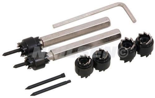 9 Pieza HSS cortador de soldadura por puntos fijado en caja-herramientas de soldadura