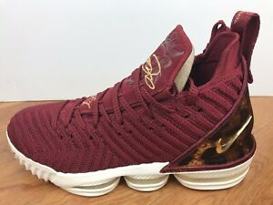"793a08ee3d81 Men s Nike Lebron XVI 16 ""The King"" Size-8 Team Red Gold (AO2588 601 ..."