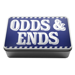 odds ends stuff box wires bits and bobs metal storage tin box a027