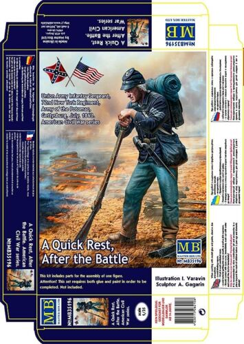 Union Army Sergeant in 1:35 MASTER BOX™ 35196 A Quick Rest After the Battle