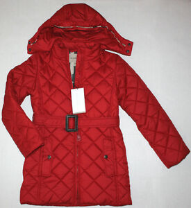 Image is loading NWT-Girls-BURBERRY-Red-Long-Quilted-Puffer-Coat- db8d0b8df8