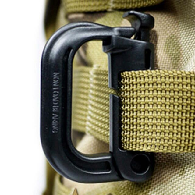 2pcs Carabiner D-Ring Clip Hook Rock Climbing Hiking Keychain Locking Buckle