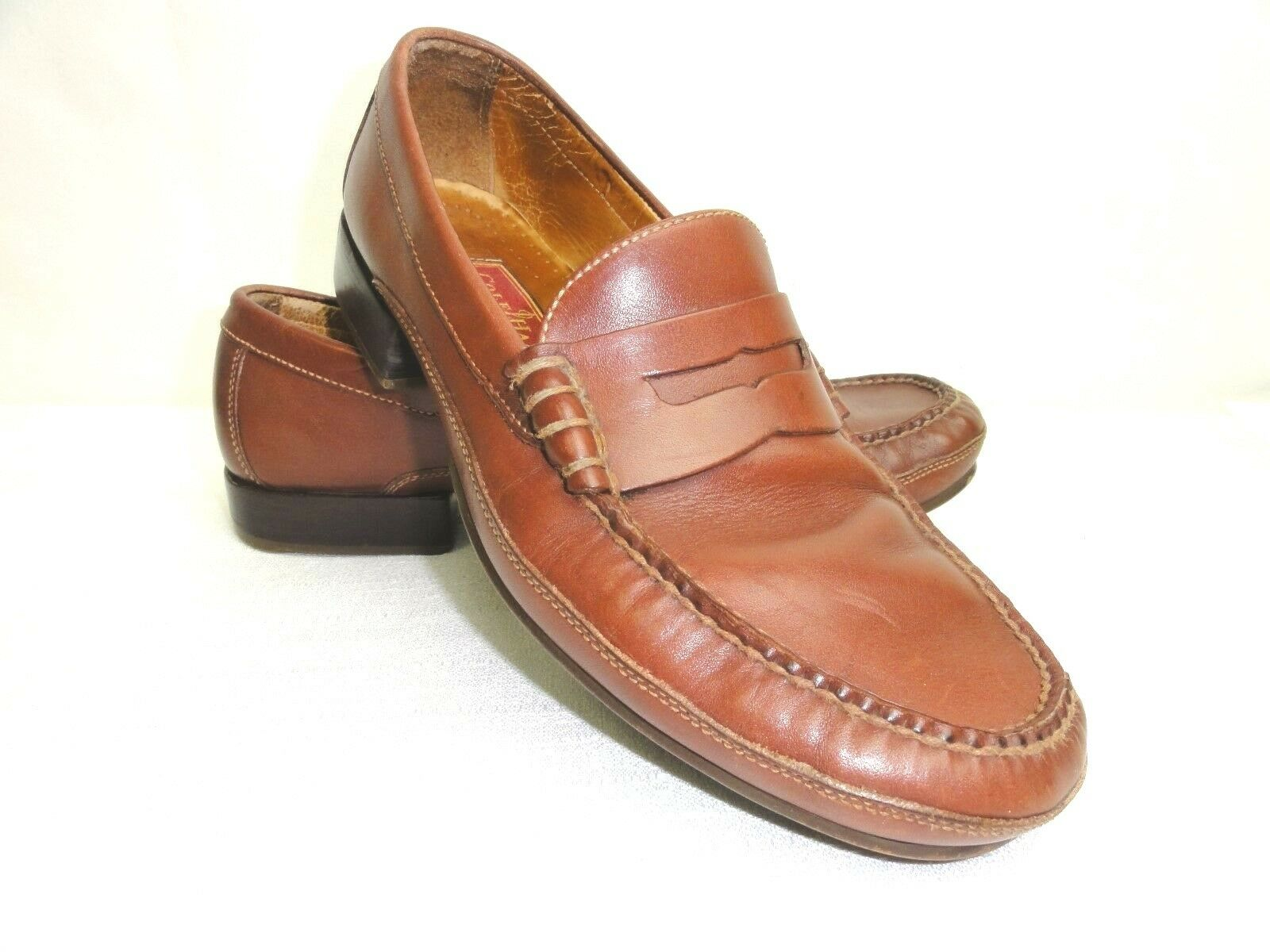 COLE-HAAN Country Mens Leather Sz 9 1 2M shoes 2819 Slip-On Penny Loafers Brazil