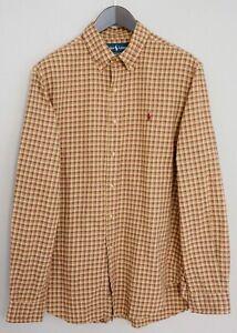 Men-Ralph-Lauren-Casual-Shirt-Check-Cotton-L-MIA29