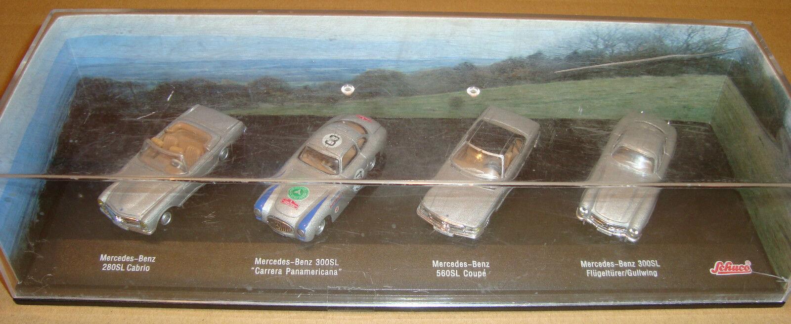 Schuco mercedes-benz 280sl cabrio   300sl carrera   560sl coup    300sl flugelturer