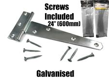 Pairs of Galvanised Tee Hinges HSG HEAVY DUTY 100 to 600 mm 4 Inch 23.5 Inch