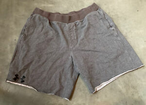 Under-Armour-Rival-Fleece-Loose-Fit-Shorts-Mens-Size-XXL-Gray-Black-Pre-Owned