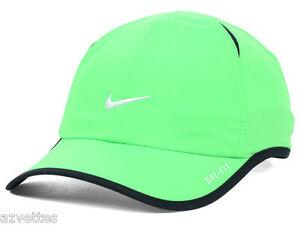 NEW! Cool Green Black NIKE Men-Women s Tennis Cap DRI-FIT Run Hat ... 5271d290b4