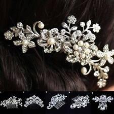 Bridal Wedding Flower Crystal Rhinestone Headband Hair Clip Comb Pin FASHION HS5