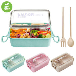 Lunch-Box-Leakproof-Microwave-Picnic-Food-Container-Wheat-Straw-Bento-Box-800ml