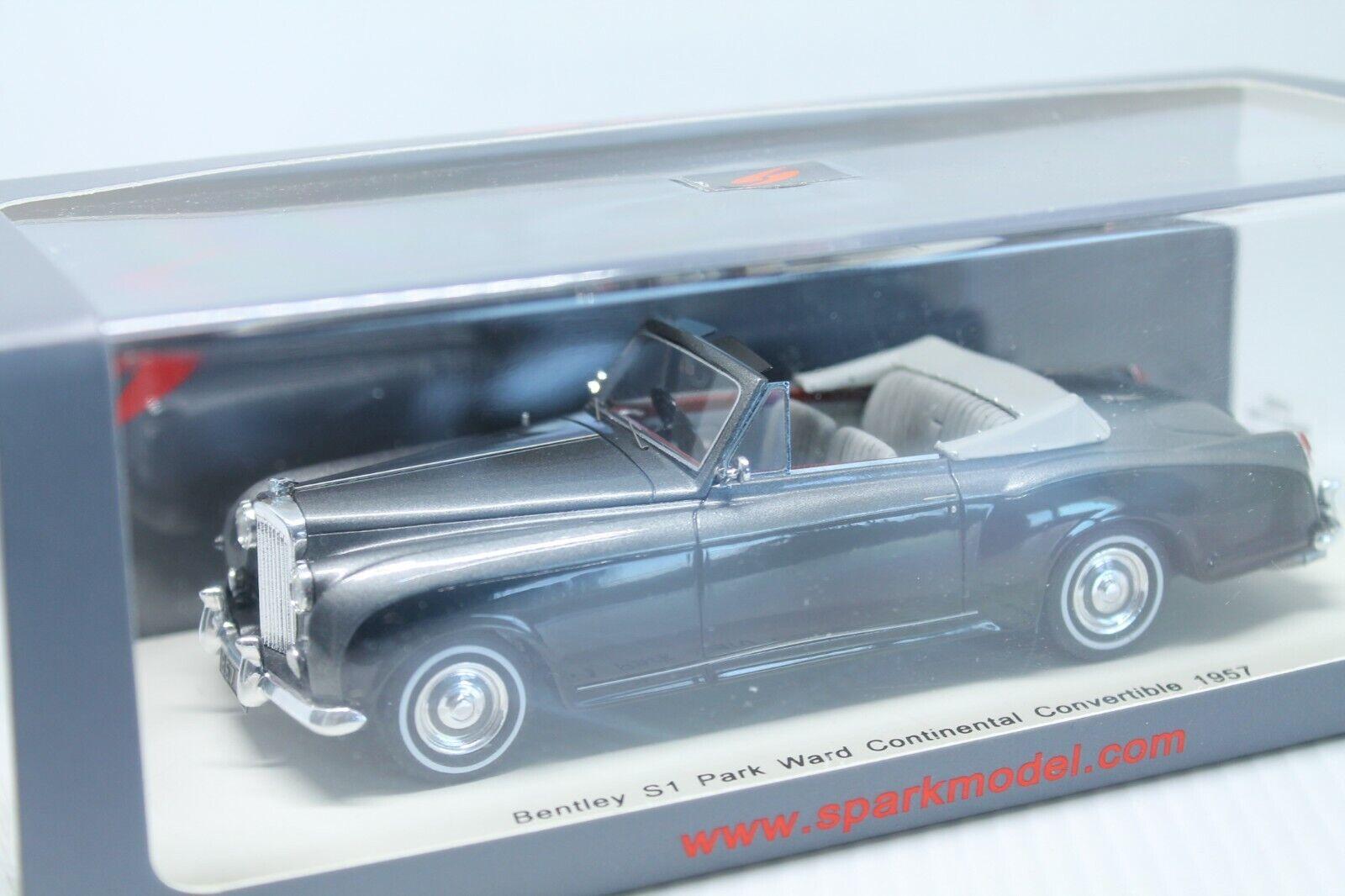 SPARK  Bentley s1 Park Ward Continental  Convertible  Neuf dans sa boîte  1957  1 43  produit de qualité d'approvisionnement