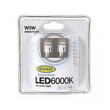 2x Ring W5W (501) 12v 6000K Ice white LED Light Bulbs - RW5016LED