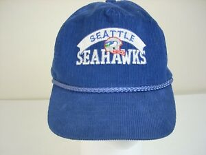 Image is loading Seattle-Seahawks-Baseball-Cap-One-Size-Blue-Corduroy- c198f7eb3