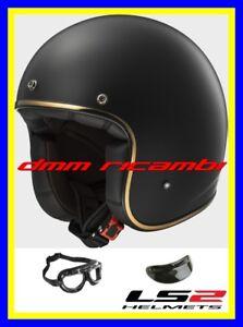 Casco-Jet-LS2-BOBBER-Tg-S-Nero-Opaco-Bandit-Custom-Triumph-Harley-Davidson